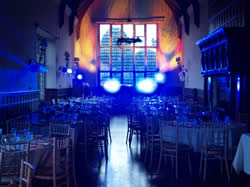 Wedding Disco Setup in Essex at Layer Marney Tower