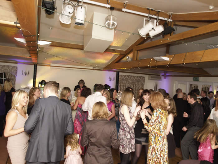 Disco for wedding reception evening party at Mulberry House, Ongar Essex